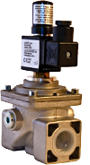 Solenoid gas valve manually reset Ν.Ο